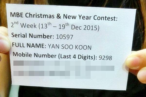 Yan 2nd Week (Grand Prize 13th Dec - 19th Dec 2015)